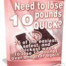 Lose 10 Pounds Quick eBook
