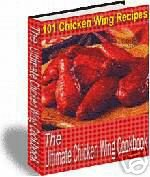 The Chicken Wing Cookbook recipes EBOOK FREE SHIPPING
