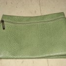 Clinique Green Faux Alligator Travel Pouch