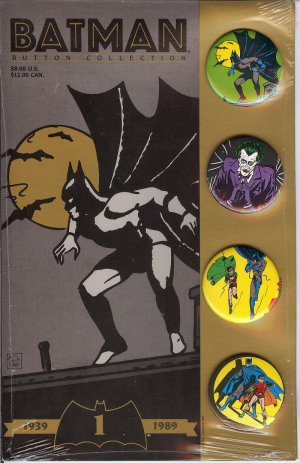 Batman - Spiderman & The Tick = Collector Buttons from 1989 to 1990-  Button Collection