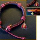 Hemp & Leather Buddha Dharma Amulet Bracelet