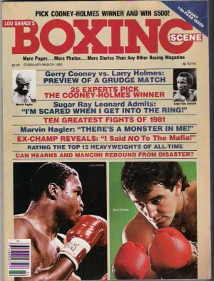 Lou Sahadi's Boxing Scene - Gerry Cooney vs Larry Holmes- Sugar Ray Leonard- March 1982- Vintage