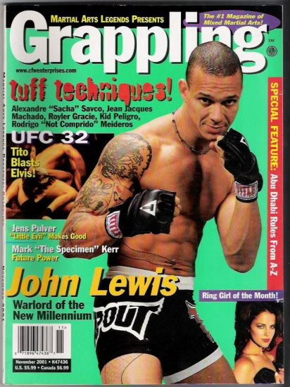 Martial Arts Legends Presents Grappling- #1 Magazine of Mixed Martial Arts Nov. 2001