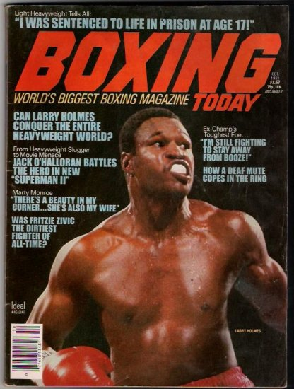 Boxing Today Oct. 1981-Larry Holmes-Marty Monroe