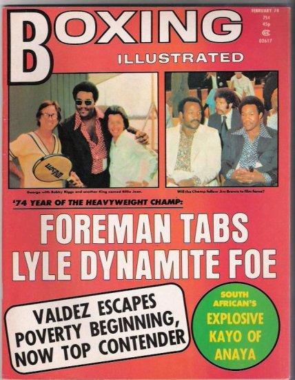 Boxing Illustrated- Foreman-Valdez- Kayo of Anaya- Bobby Riggs- Vintage Magazine