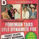 Boxing Illustrated- Foreman-Valdez- Kayo of Anaya- Bobby Riggs- Vintage Magazine