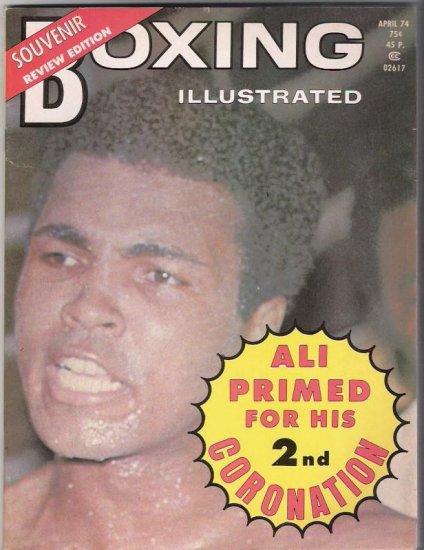 Boxing Illustrated- Ali Primed For His Second Coronation-Souvenir-1974- Vintage Magazine