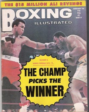 Boxing Illustrated-Fight II-George Foreman-Frazier-Ali-Vintage Magazine