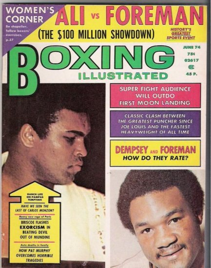 Boxing Illustrated- Ali vs Foreman- Dempsey and Foreman-Vintage Magazine