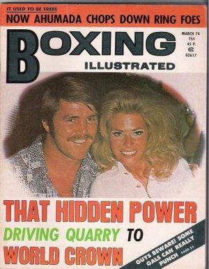 Boxing Illustrated- Ahumada-Quarry-March 1974- Vintage Magazine