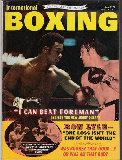 International Boxing- Ron Lyle- Foreman Quarry-Sugar Ray- Vintage Magazine