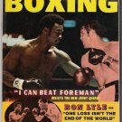 International Boxing- Ron Lyle- Foreman Quarry-Sugar Ray- Vintage Magazine