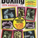Boxing 1974 Annual # 2-Lamotta Vs Robinson-Saddler vs Pep-Marciano.Charles-Fabulous Fifties