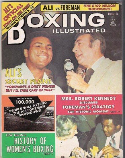 Boxing Illustrated- 1974-Ali vs. Foreman-Mrs. Robert Kennedy-Women� Boxing-Vintage Magazine
