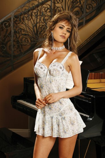 Floral Print Baby Doll