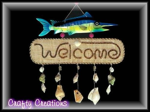 Colorful Swordfish Welcome Sign