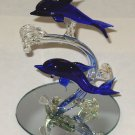 Home Decor - Lot Of 2 Glass Dolphins Knickknacks - Dolf - C - D