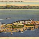 Alcatraz Island Federal Prison Ariel View Real Photo PC California