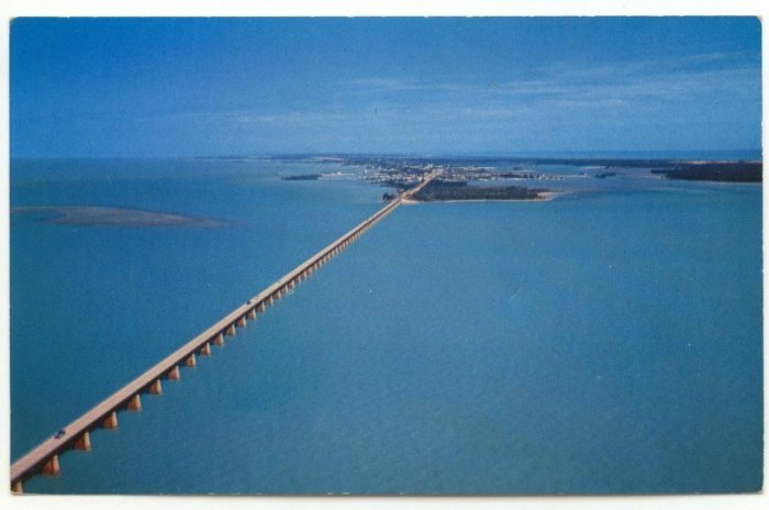 Vintage Seven Mile Bridge Famous Overseas Highway Florida Photo by Jack & Bill Levy
