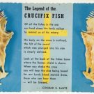 1979 Chrome Post Card The Legend of the Crucifix Fish Conrad S. Lantz  Postcard