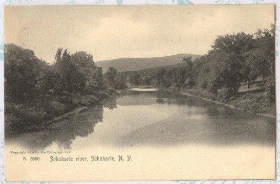 Antique 1905 Postcard Schoharie River, Schoharie New York Post card