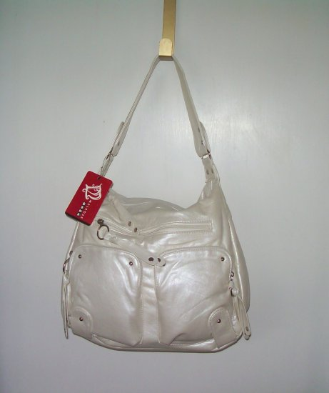 NWT DESIGNER INSPIRED PEARLIZED WHITE  SHOULDERBAG