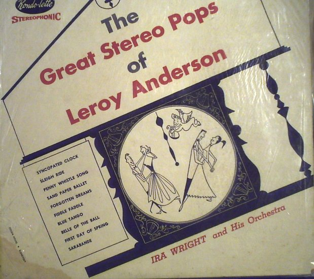 Anderson, Leroy Music - Ira Wright and His Orchestra.......