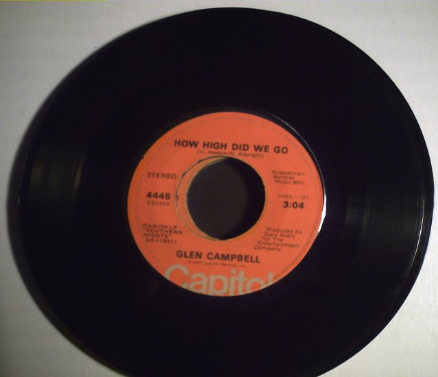 Campbell, Glen   How high did we go/Sunflower  1977