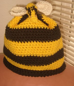 Spring Girls Crochet Bumblebee Hat
