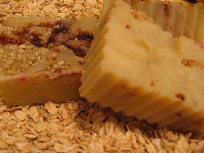 BOGO SALE VEGAN Strawberries and Cream Oatmeal Handmade Cold Process Soap