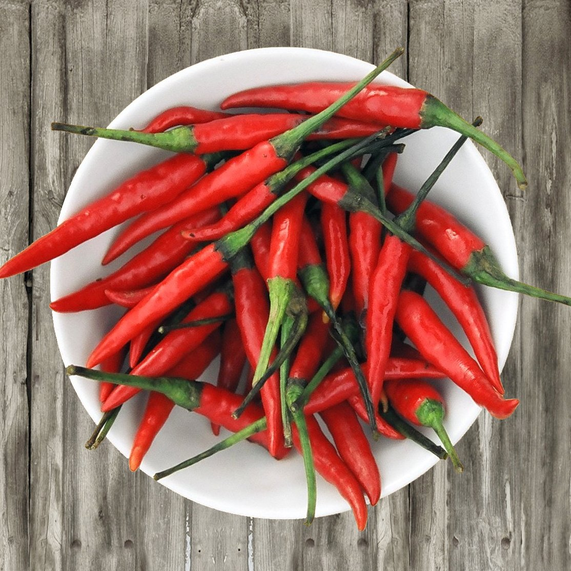 HOT! Organic Red Thai Hot Chili Pepper Capsicum annuum - 50 Seeds