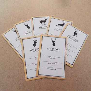 Exclusive Forest Silhouette Seed Saving Envelopes Deer Assortment - Set of 7