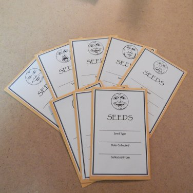 Exclusive Seed Saving Envelopes Moon Faces - Set of 8