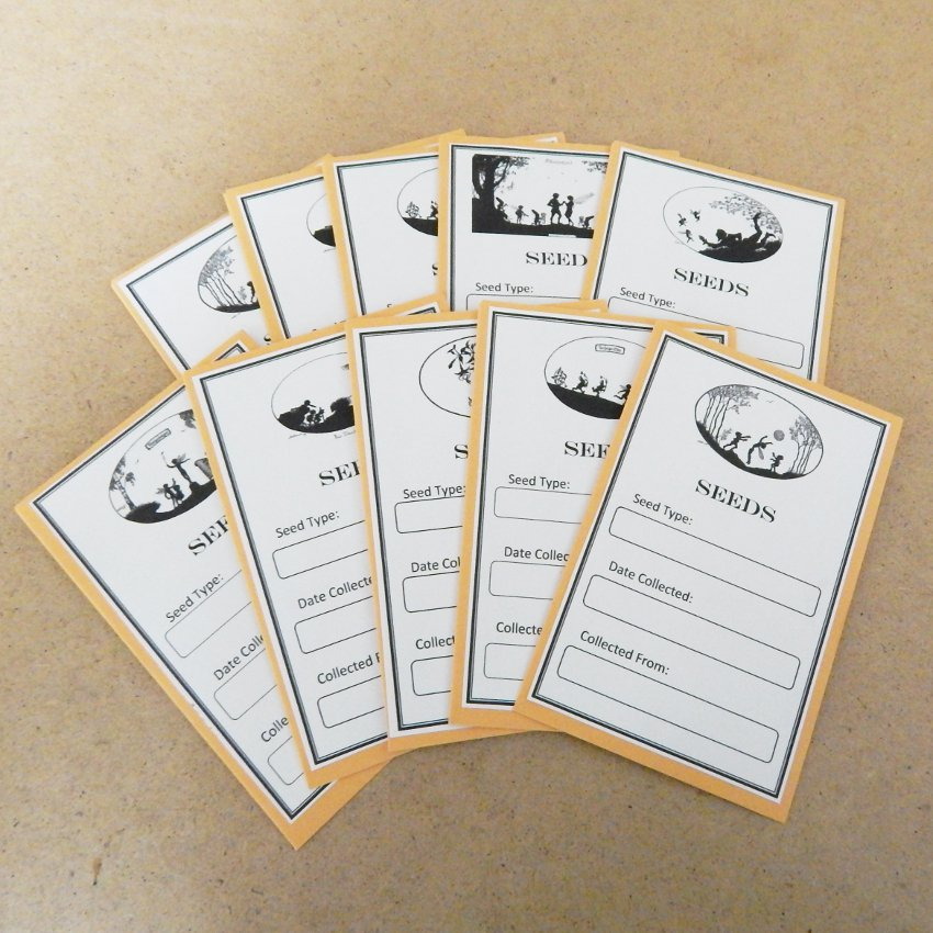 Exclusive Vintage Silhouette Seed Saving Envelopes Fairies Elfes Gnomes II - Set of 10