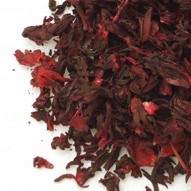Organic Dried Loose Roselle Hibiscus Flowers Herbal Tea -  2 Oz - 55 Gram