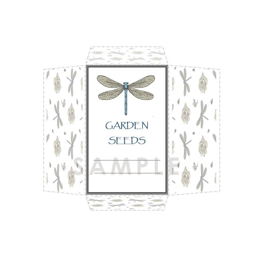 DIY Seed Envelope Printable Template Dragonfly