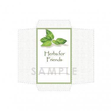 DIY Seed Envelope Printable Template Herbs for Friends