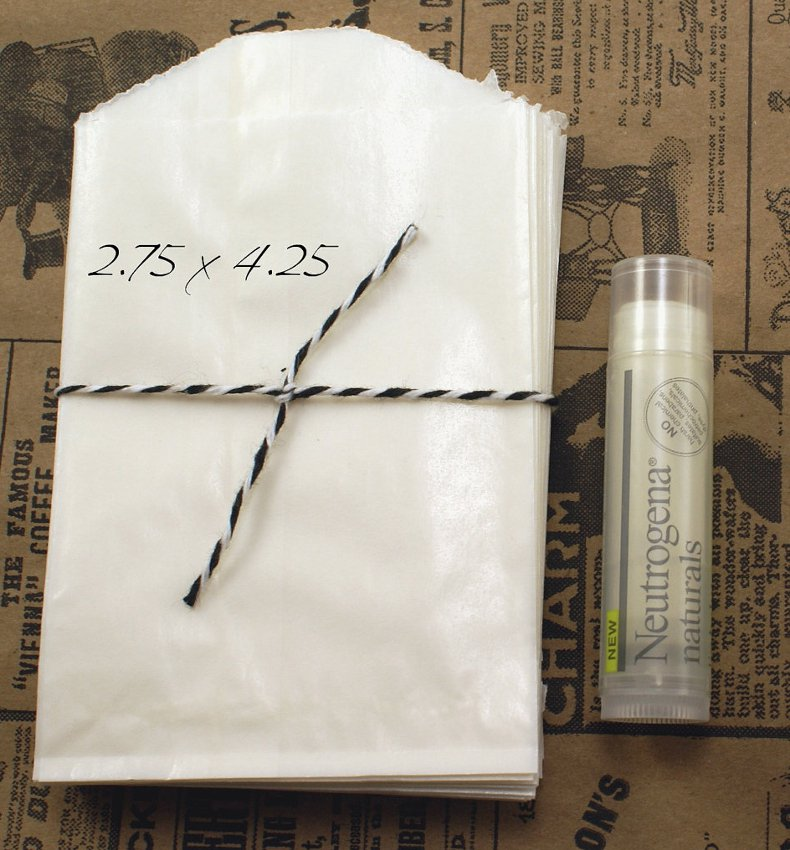 """50 Small 2.75"""" x 4.25"""" Translucent Glassine Wax Paper Envelopes for Seed Saving"""