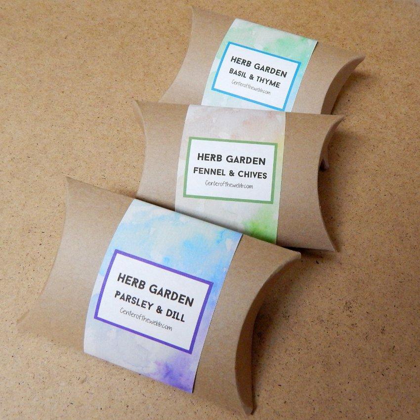 3 Favors - 6 Varieties Organic Kitchen Herbs Seed Gift