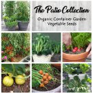 Patio Container Organic Vegetable Seed Collection - 6 Varieties