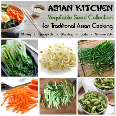 Oriental Kitchen Garden Organic Vegetable Seed Collection - 6 Varieties