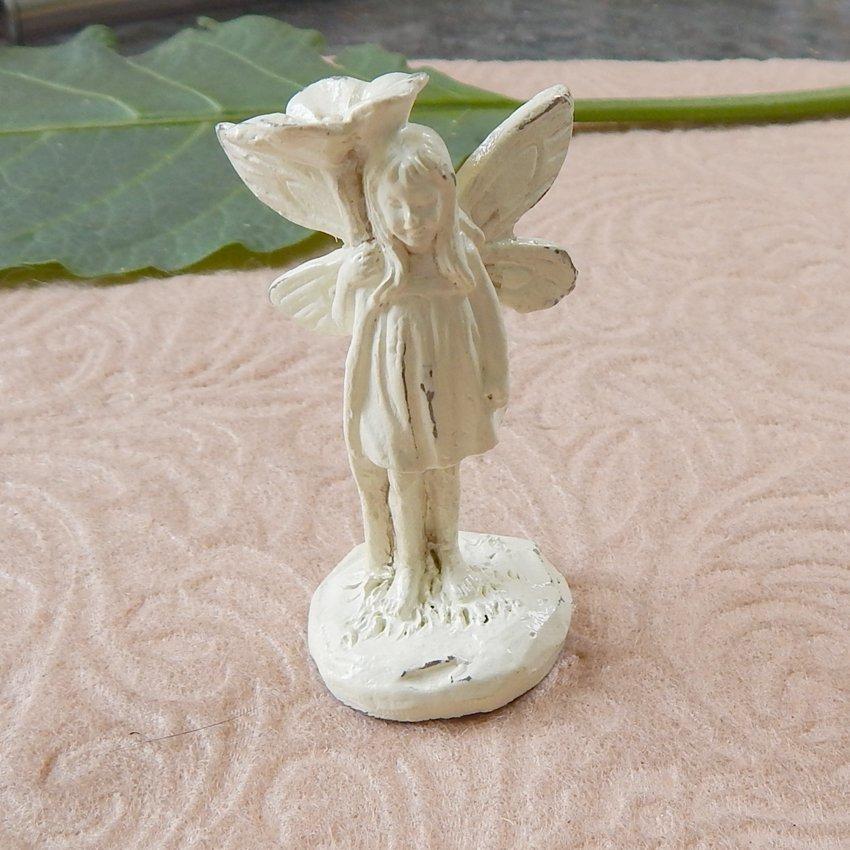 Miniature Standing Garden Fairy Pixie Figurine Ivory I