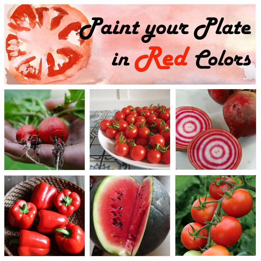 Paint your Plate in Red Colors Organic Heirloom Vegetable Seed Collection - 6 Varieties