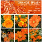 Tangerine and Orange Shades Flower Seed Collection - 6 Varieties