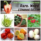 Rare Weird and Wacky Heirloom Edibles Garden Seed Collection - 6 Varieties