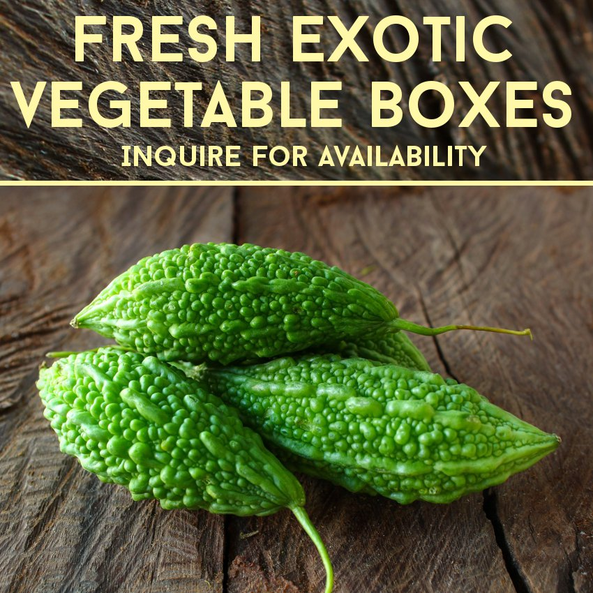 Various Fresh Exotic Vegetables Available (Custom Box)