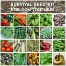 Survival Organic Heirloom Vegetable Seed Collection 20 Varieties - Seed Gift in a Box