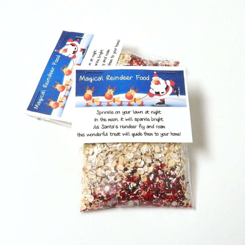 Magical Reindeer Food Gift Stocking Stuffer- Set of 6