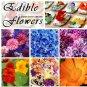 Edible Heirloom Flowers Organic Seed Collection - 6 Varieties