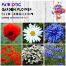 Red White and Blue Patriotic Garden Flower Seed Collection